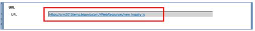 URL dialog box
